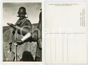 1930 ca C. ZAGOURSKI «L'Afrique qui disparaît» KENIA Femme MASSAI *Postcard 164