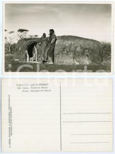 1930 C. ZAGOURSKI «L'Afrique qui disparaît» KENIA Parmi les MASSAI *Postcard 168