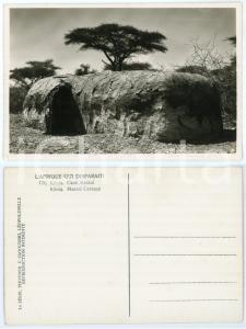 1930 C. ZAGOURSKI «L'Afrique qui disparaît» KENIA Case MASSAI *Postcard 170