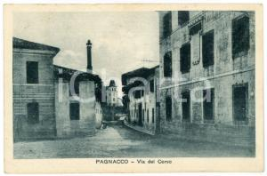 1920 PAGNACCO (UD) Via del Corso - Cartolina postale FP VG