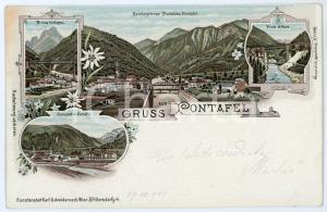 1900 PONTEBBA / PONTAFEL Ponte di Muro - Grenzstation - Cartolina FP VG