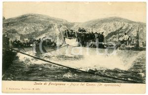 1900 ca ISOLA DI FAVIGNANA Pesca del tonno (3^ operazione) Cartolina ANIMATA