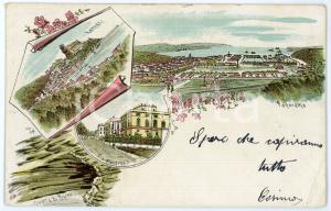 1900 LA SPEZIA - Vedutine LERICI - Grotta di Byron - Via Mazzini *Cartolina