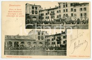 1900 DESENZANO Fiera Santa Maria Maddalena (Cuccagna nel porto) - Cartolina