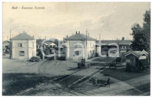 1933 ASTI Stazione Tramvie - Cartolina animata carri - Biciclette GERBI