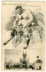 1905 LIÈGE Expositione Universelle - Faune illustré par H. DeMOOR Carte postale