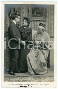 1903 CONJUGAISON DU VERB AIMER - Ils s'aiment - Couple - Vintage postcard n°6