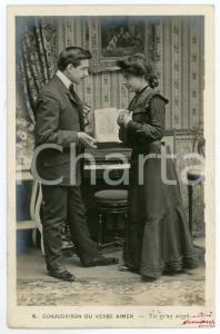 1903 CONJUGAISON DU VERB AIMER - Tu m'as aimé - Couple - Vintage postcard n°8