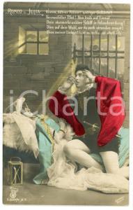 1908 LOVERS Romeo and Juliet - Chromo vintage postcard