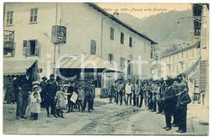 1910 ca OULX / VAL DI SUSA Veduta di Piazza della Fontana *Cartolina ANIMATA