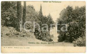 1906 PORDENONE - Veduta del Giardino di Villa Querini - Cartolina vintage