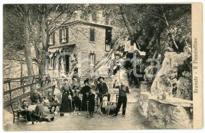 1910 ca BRUNATE (CO) Fonte del Pissarottino - Cartolina ANIMATA FP VG