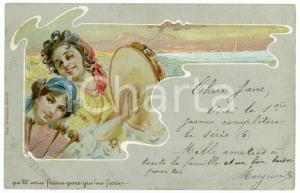 1903 'O SOLE MIO Innamorati - Illustrazione Alberto DELLA VALLE Cartolina FP (2)