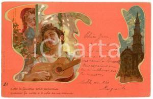1903 'O SOLE MIO Innamorati - Illustrazione Alberto DELLA VALLE Cartolina FP (1)