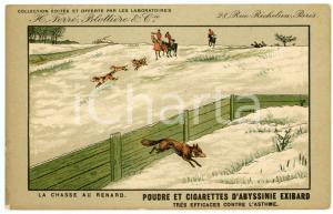 1910ca CIGARETTES D'EXIBARD La chasse au renard - Carte postale ILLUSTRÉE FP NV