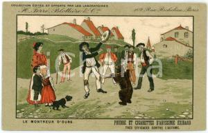 1910ca CIGARETTES D'EXIBARD Le montreur d'ours - Carte postale ILLUSTRÉE FP NV