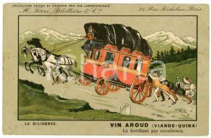 1912 VIN AROUD (VIANDE-QUINA) La diligence - Carte postale ILLUSTRÉE FP VG
