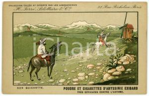1910 ca CIGARETTES D'EXIBARD Don Quichotte - Carte postale ILLUSTRÉE FP NV