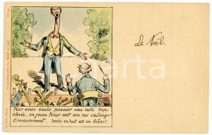 1900ca HUMOUR Homme au long cou - Supplement au NOEL 425 Carte postale FP NV