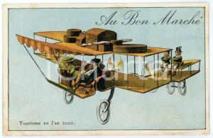 1910 ca AU BON MARCHÉ Tourisme en l'an 2000 - Carte postale ILLUSTRÉE FP NV