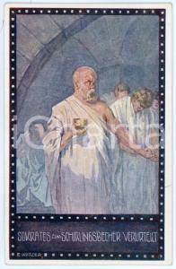 1920ca IM ZEICHEN DER RELIGION Sokrates - Ill. Ernst KUTZER Postcard FP NV