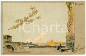 1902 TOSCA di Giacomo PUCCINI - Cartolina Illustrata RICORDI FP VG
