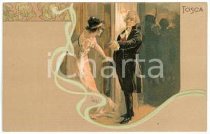 1900ca TOSCA di Giacomo PUCCINI - Cartolina Illustrata RICORDI FP NV