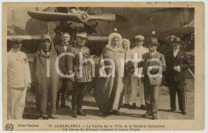 1930 CASABLANCA (MAROC) Pacha de la Ville et Général COLOMBAT au Camp CAZES