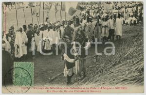 1908 AFRIQUE GUINEE Voyage Ministre des Colonies - Griots flutistes à MAMOU