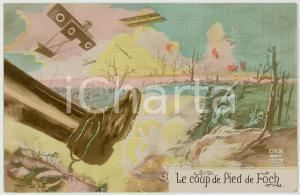 1915 ca WW1 - FRANCE Le coup de pied de foch - Carte postale ILLUSTRÉE FP NV