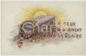 1918 WW1 BELGIQUE Foyer de la femme - À ceux qui dorment dans la glorie Postcard