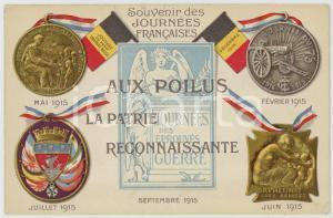 1915 Souvenir Journées Francaises - Aux poilus la patrie reconnaissante Postcard
