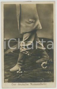 1915 ca WW1 GERMANY - Der deutsche Kommísltíefel - Photomontage -  Postcard