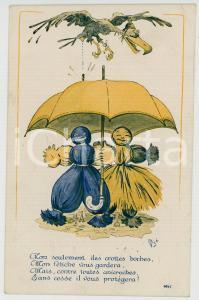 1910 ca Artist MICH Humour et fétiche ILLUSTRATED Postcard FP NV