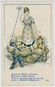 1910 ca Artist MICH Nos fétiches veillent ILLUSTRATED Postcard FP NV