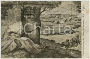 1920 WW1 Le Grande-père surveille l'attaque de Champagne - Carte postale