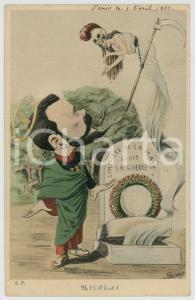 1903 RUSSIE - SATIRE Tsar Nicolas II - Cimitiere de La Haye ILLUSTRATED Postcard