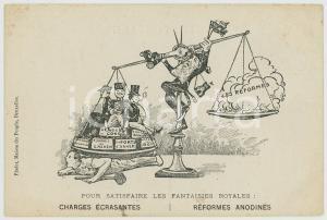 1905 ca BELGIQUE SATIRE Satisfaire les fantaisies royales - Léopold II Postcard