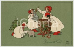1910 ca JOYEUX NOEL Children playing with Christmas toys - ill. EBNER - Postcard