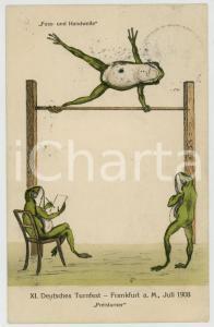 Juli 1908 FRANKFURT XI. Deutsches Turnfest - Preisturner - Frog *Postcard
