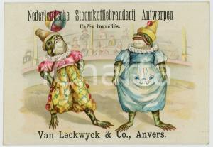 1910 ca ANTWERPEN Nederlandsche Stoomkoffiebranderij - Circus frog - Adv card