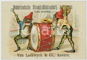 1910 ca ANTWERPEN Nederlandsche Stoomkoffiebranderij - Circus frogs *Postcard