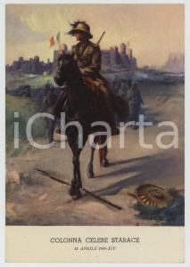 1936 AOI - ETIOPIA Colonna Celere Starace - Ill. di Clemente TAFURI Cartolina FG