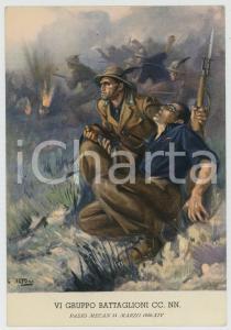 1936 PASSO MECAN - VI Gruppo Battaglioni CC. NN. Ill. Clemente TAFURI Cartolina