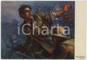 1936 WW2 - AOI - ETIOPIA Soldati in battaglia Ill. di Clemente TAFURI Cartolina
