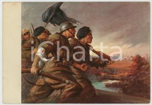 1938 WW2 Guerra di Spagna OMS Illustrazione di Clemente TAFURI Cartolina FG VG