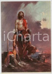 1936 WW2 - OMS Gesù sorregge un soldato - Ill. di Clemente TAFURI Cartolina FG