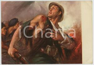 1936 WW2 Guerra di Spagna OMS Illustrazione di Clemente TAFURI Cartolina FG NV