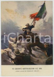 1936 AMBA ALAGI - VI Gruppo Battaglion CC.NN. Ill. di Clemente TAFURI Cartolina