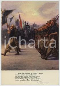 1936 AOI Benito MUSSOLINI passa in rassegna le truppe Clemente TAFURI Cartolina